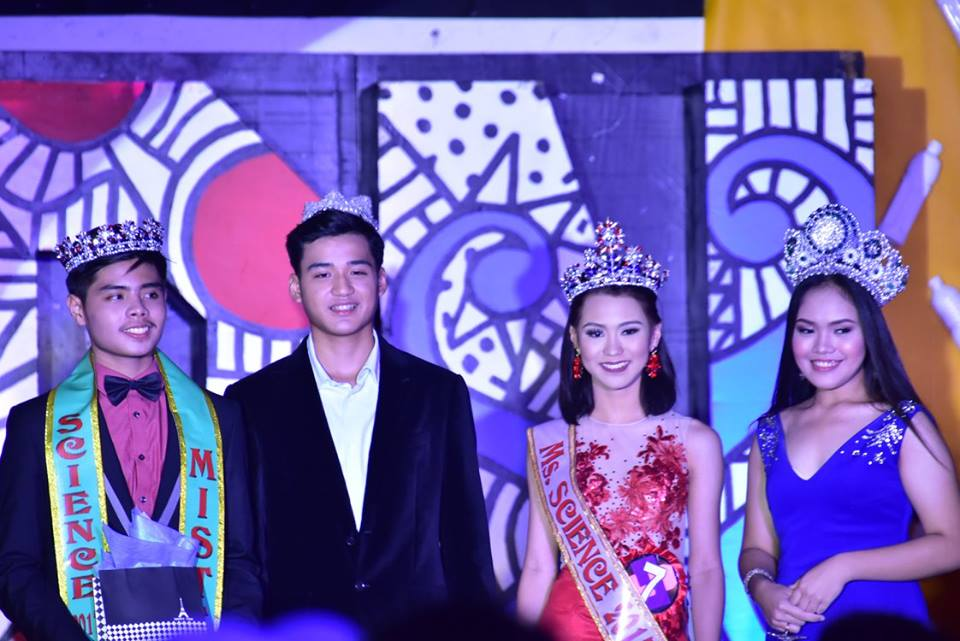 From Left to Right, Jeric Sorita , Mr. Science 2017, Kevin Belviz, Mr. Science 2016, Zia Villarente,Ms. Science 2017 and Ella Tornea, Ms. Science 2016.