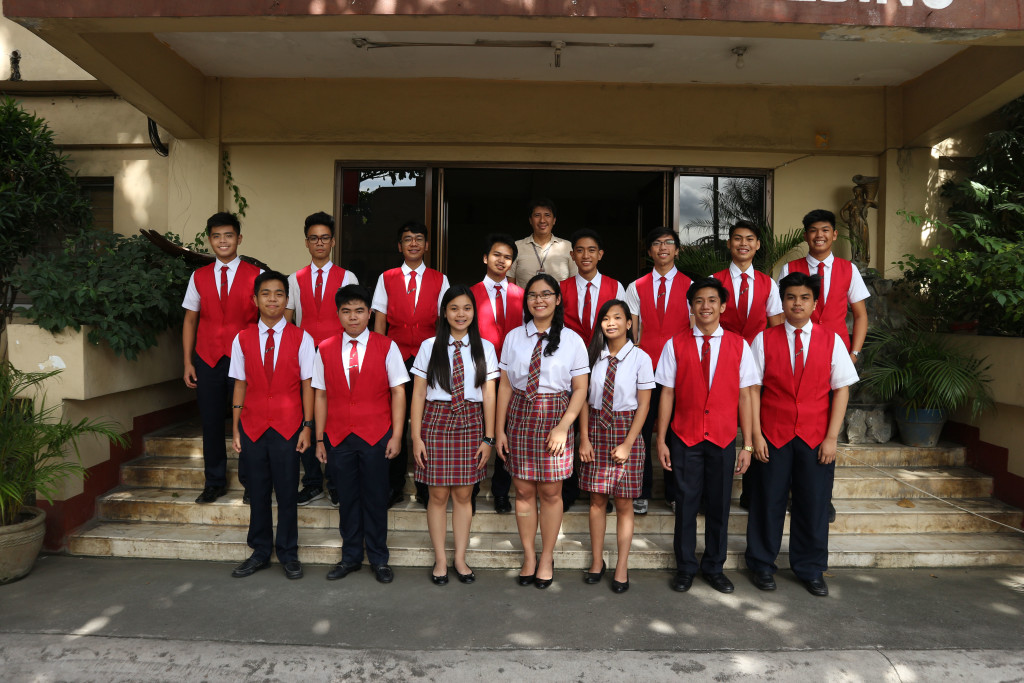 The 15 successful Grade 11 Casans pose with Senior High School OIC Mr. Herbert San Pedro after passing the admission and scholarship tests given by Japanese Universities.