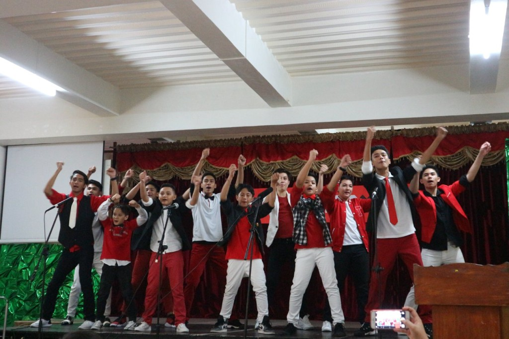 Malebox members sing and dance during the musiCASAyaw recital last June 2 at the Phase 6 campus stage.